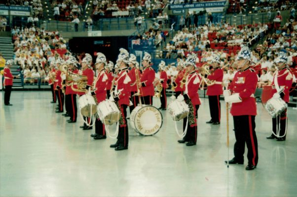Military band at the Opening Ceremony
