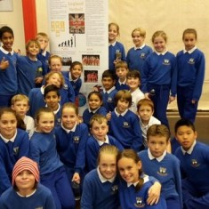 Class 5AC and the banner they designed