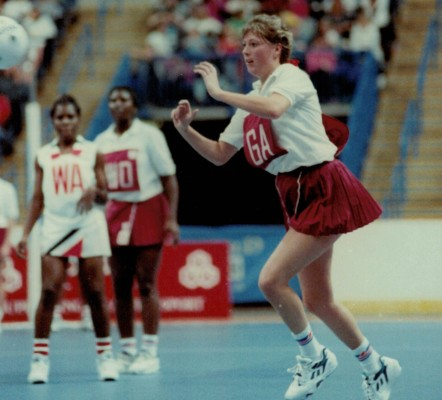 Tracey Miller on the attack