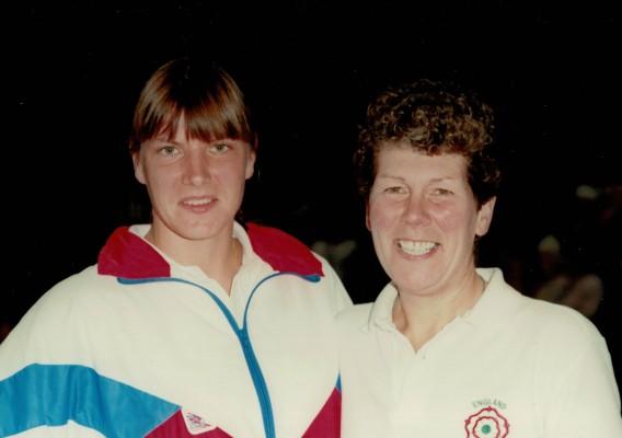England Captain Kendra Slawinski with England Coach Liz Broomhead