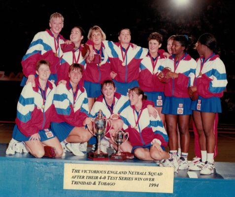 NOTE the date shown is incorrect and should  be 1993 Back row: Tracey Bertram, Sam Bird, ???, Lucia Sdao, Justine Suanders, ???, Maggie Farrel, ??? Front row:  Sally Horrocks, Kendra Lowe, Fiona Murtagh, ????