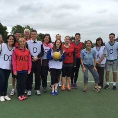 Parents vs Teachers Netball Match (playing by old rules)