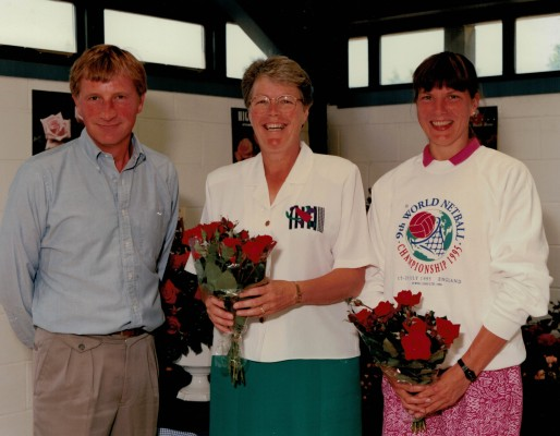 Harkness Roses Director, winner Helen Watt, England Captain Kendra Slawinski