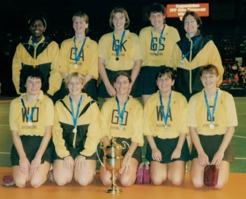 YWCA Club - Winners Wembley Clubs Knockout Competition 1993 Back row left to right: Jacki Minzi, Jan Hemsley, Phillipa Burns, Elaine Davies, Eileen Hinson Front row left to right: Mary Crolla, Trish Farrelly, Angela McArthur, Jane Roberts, Wendy Hayes