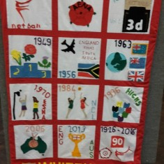 Whitehill School's England Netball 90th Anniversary Quilt