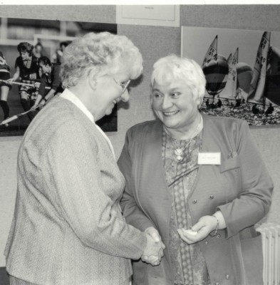 Pat Taylor presenting Lily McGurk with Life Membership