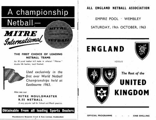 1963 England v The UK Wembley