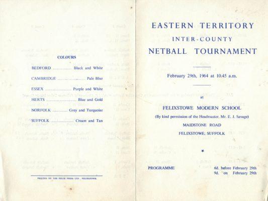 1964 East Region Inter-county Tournament, Felixstowe