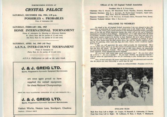 1964 England v Wales, Wembley