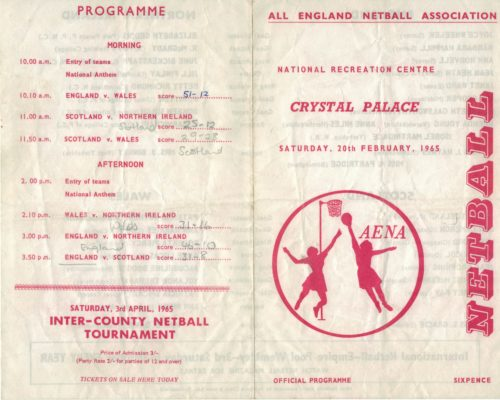 1965 England v Wales v Northern Ireland v Scotland, Crystal Palace