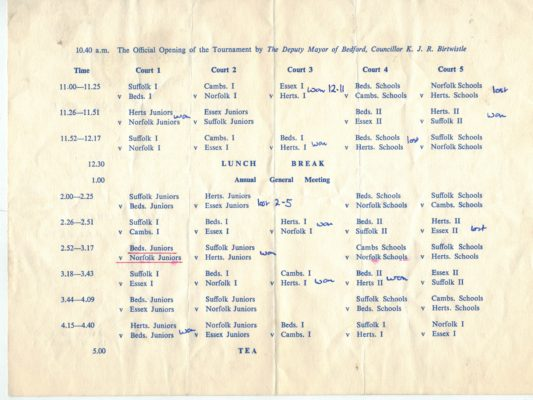 1965 East Region Inter-counties, Bedford
