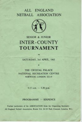 1965 Inter-counties Tournament, Crystal Palace