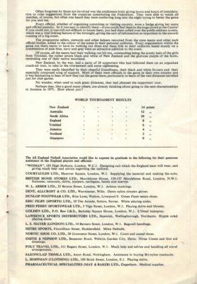 1967 England v The Rest, 21st October, Wembley