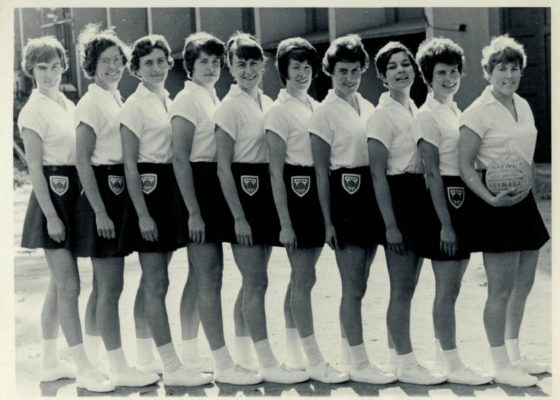 Anne Miles, Ann Novell, Joyce Wheeler, Jacky Barclay, Janice Bannister, Judi Day, Margaret McDonald, Eunice Charles, Isobel Martindale, Marion Lofthouse (Captain), Note:  Margaret McDonald was replaced by Liz Kelley.