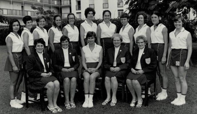 Taken from signatures on the photograph - not in order. Anne Miles, Pat Dudgeon, Rita Rees, Carol Percy, Judi Day, Pat Watson, Sally Dewhurst, Linda Allison, Eunice Charles (Smith), Judy Heath, Cathy Hickey, Liz Kelly