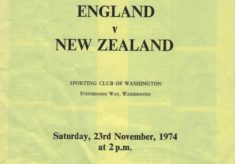 1974 England v New Zealand, Washington
