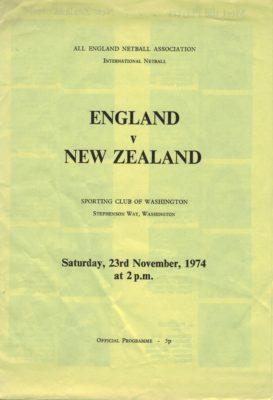 1974 England v New Zealand, Washington