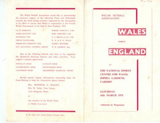 1974 Wales v England, Cardiff