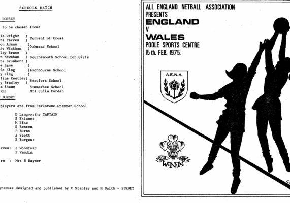 1975 England v Wales, Poole