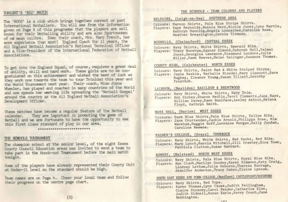 1978 England v ROOS, Canvey Island
