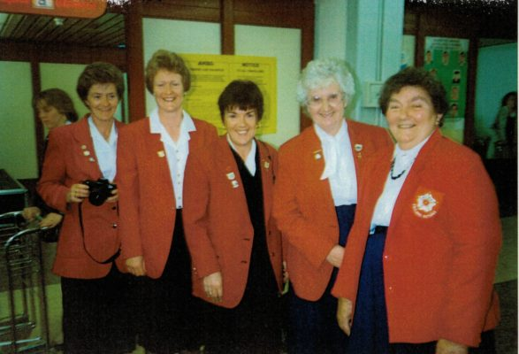 Anne Anderson, Margaret Deighan, Maureen Lee, Pat Taylor, Mary French