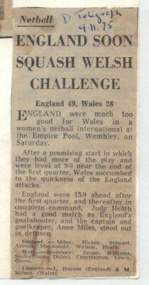 1975 England v Wales