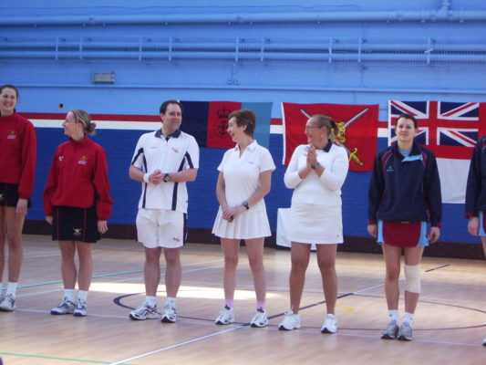 Inter Services HMS Nelson Umpires Mary Stanley & Paul Withers