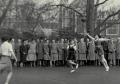 Young Mary French competing at Lincoln's Inn Fields