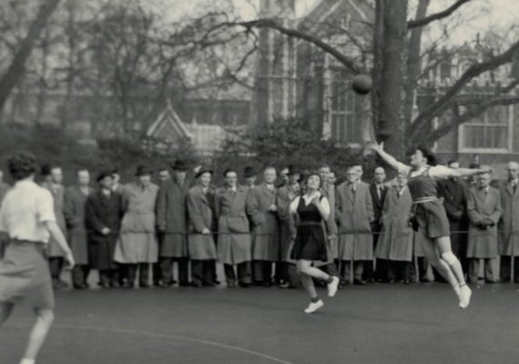 Mary French looking for the interception at Lincoln's Inn Fields
