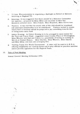 1969 Early ROOS meeting minutes, 9th November