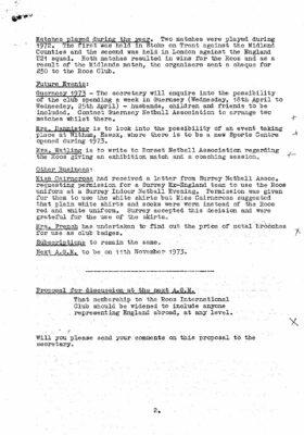 1972 ROOS Meeting Minutes, 12th November