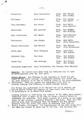 1975 ROOS Meeting Minutes 25th Janaury