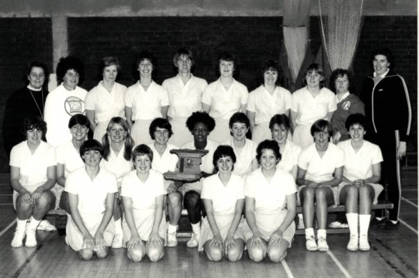 West Midlands Squad with some famous names - Back Row Gill Freakley, Sheila Perks, Colette Thomson, Gill Davies, ??, Ali McCabe, Maggie Ghent. Anona Hickin, June Jack Middle Row Carol Bretherton, Gill Salter, Yvonne Woodhouse, Sue Keal, Jasmin Millar, Gill Oitter, ??, Ros Daniels, Gina Briggs Front Row Ann Keightley, Phillipa Smith, Louise Penrice, Clare Mooney