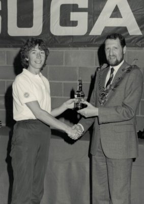 Jillean Hipsey East Region Captain presented with the British Sugar Trophy as winners of the Regional Championship