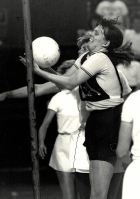 Denise Hunter with a tricky ball