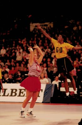 Tracey Neville shooting