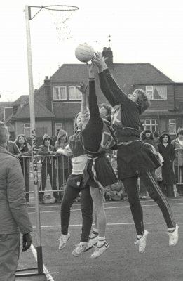 Under 16 Finals Croydon High defence in action against Bishop Walsh