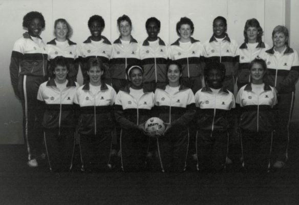 England U21 Squad Back row:  Cynthia Duncan (Birmingham), Alison Egarr (Lincs), Helen Manufor (Birmingham), Vicky Cox (Beds), Karen Saa (South Staffs), Kelly Frith (South Yorks), Lorna Hylton ( Leics), Jane Gravenor (East Essex). Front row:  Lisa Driver (Derbyshire), Lisa James (Beds), Alison Landell (South Staffs), Sammy Bird (Beds), Sharon Flemings(Middx), Joanne Hilling (Essex Met).