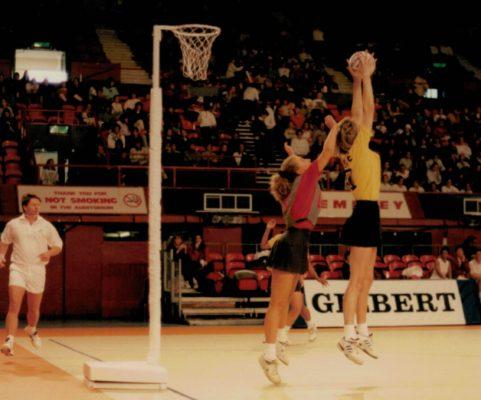 Umpire Bill Alexander in action