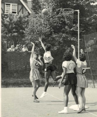 Australia shooting against the Jamaica defence.  Note the spectators over their garden wall | Harry C Deal