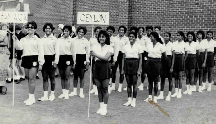 Ceylon Squad in front of Jamaican Squad