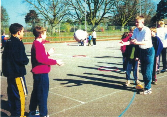 Head boy demonstrating a practice