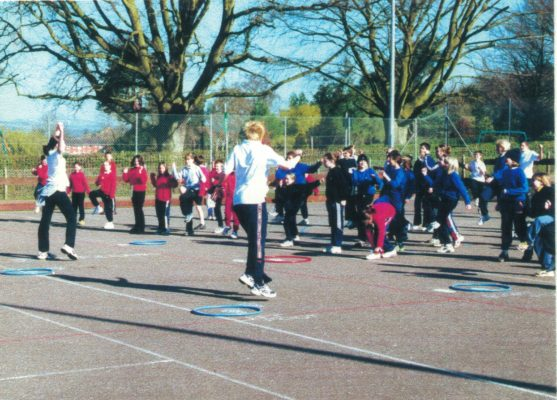 Organised by the students and staff of Court Fields Community School putting the youngsters through their paces