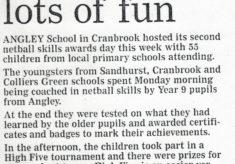 2001 High Five and Skills Award Day, Angley School, Cranbrook, Kent