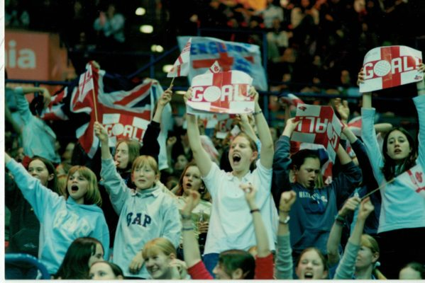 England supporters at the NIA , Birmingham Test.