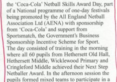 2001 Hethersett Old Hall School Coca Cola Skills Award Day