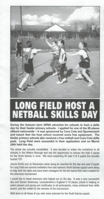 2001 Long Field High School, Leicestershire High Five Day