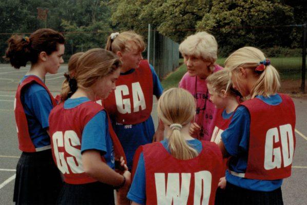 Match coaching by Joyce Wheeler at the Polham School, Darlington, Summer School