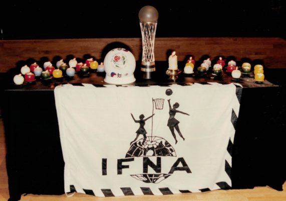 Candlelight Ceremony with the trophy and IFNA flag