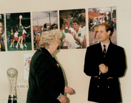 HRH Prince Edward and Pat Taylor, President